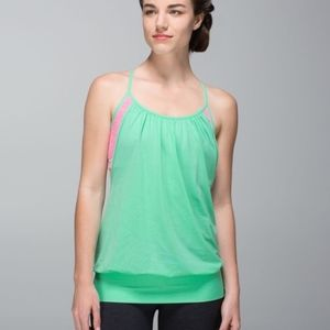 Lululemon No Limits Tank Opal and Neon Pin…
